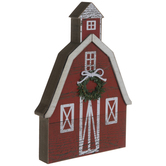Red Barn With Wreath