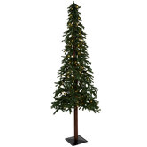 Green Alpine Pre-Lit Christmas Tree - 7'