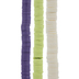 Purple, Green & White Clay Disc Bead Strands