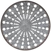 Round Galvanized Metal Wall Decor