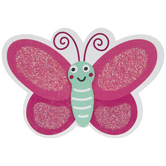 Butterfly Glitter Painted Wood Shape