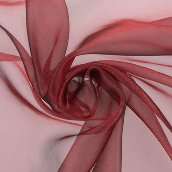 Red Crepe Sparkle Organza Fabric