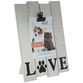 "Love Paw Print Wood Clip Frame - 4"" x 6"""