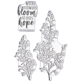 Fragrant Flowers Clear Stamps