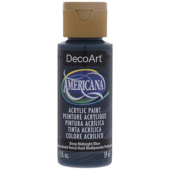 Deep Midnight Blue Americana Acrylic Paint