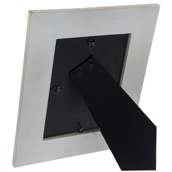 White Beaded Wood Wall Frame