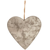 Heart Galvanized Metal Wall Decor