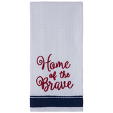 Home Of The Brave Kitchen Towel