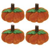 Orange Velvet Pumpkins