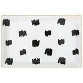 White & Black Dot Jewelry Dish