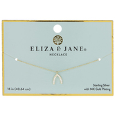 14K Gold Plated Wishbone Necklace