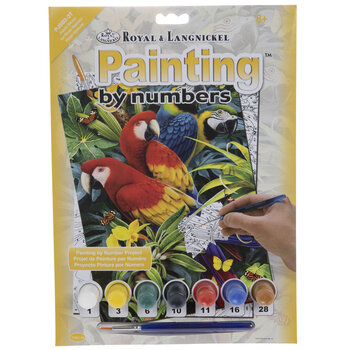 Majestic Macaws Paint By Number Kit