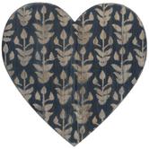 Textured Heart Wood Wall Decor