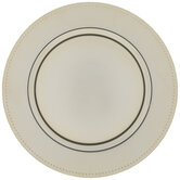 Gold Dotted Edge Plate Charger