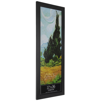 Black Smooth Wood Wall Frame