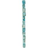 Turquoise Dyed Tumbled Jasper Bead Strand