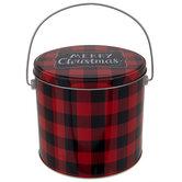 Buffalo Check Christmas Bucket