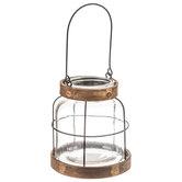 Industrial Jar Glass Lantern