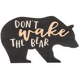 Don't Wake The Bear Wood Wall Decor