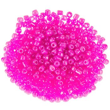 Rose Glass Seed Beads - 6/0