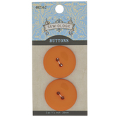 Shiny Orange Round Buttons - 28mm