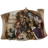 Joy To The World Nativity Scroll