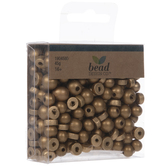 Gold Round & Disc Wood Beads
