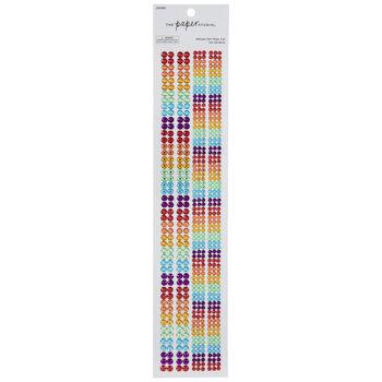 Multi-Color Rhinestone Border Stickers