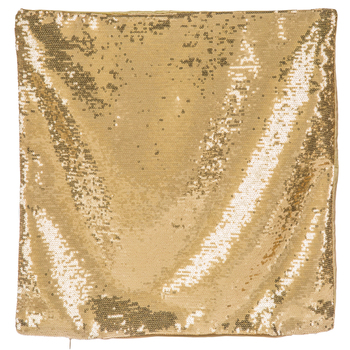 Gold Sequin Pillow Cover