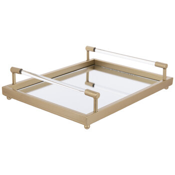 Gold Mirrored Metal Tray