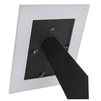 "Distressed White Wood Frame - 5"" x 7"""