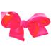 Hot Pink Grosgrain Bow Hair Clip - 6