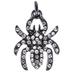 Plated Hematite Spider Charm With Rhinestones