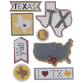Texas Icons 3D Stickers