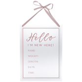 Pink I'm New Here Wall Decor
