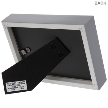 "White & Gray Frame - 5"" x 3 1/2"""