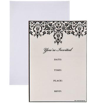 Black Scroll Invitations