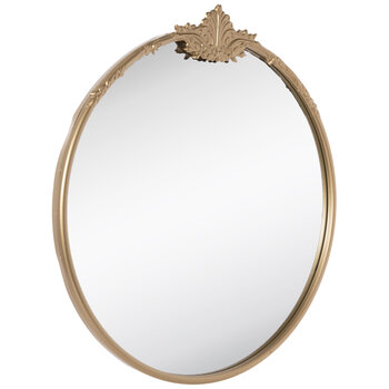 Gold Flourish Metal Wall Mirror