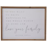 Love Your Family Wood Wall Decor