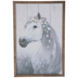 White Horse With Flowers Wood Wall Decor