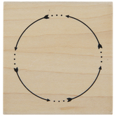 Dot Arrow Circle Rubber Stamp