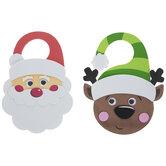 Santa & Reindeer Door Hanger Foam Craft Kit