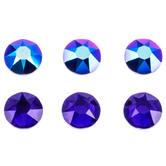 Cobalt Shimmer Swarovski Xirius Flatback Crystals - 16ss