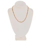"Vintage Rhinestone Chain Necklace - 18"""