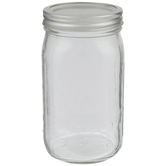 Wide Mouth Glass Mason Jar - 32 Ounce
