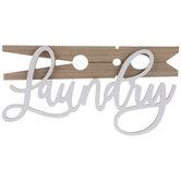 Laundry Clothespin Wood Wall Decor