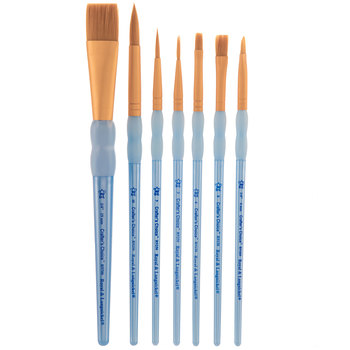 Golden Taklon Paint Brushes - 7 Piece Set