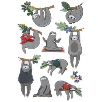 Wiggle Eye Sloth 3D Stickers