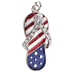 Patriotic Flip-Flop Charm