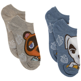 Tom Nook & K.K. Slider Animal Crossing Low Cut Socks